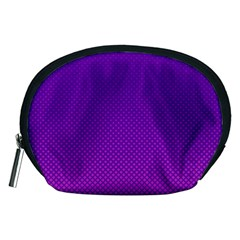 Halftone Background Pattern Purple Accessory Pouches (medium)