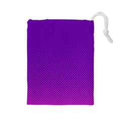Halftone Background Pattern Purple Drawstring Pouches (large)  by Nexatart