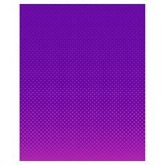 Halftone Background Pattern Purple Drawstring Bag (small)