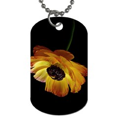 Ranunculus Yellow Orange Blossom Dog Tag (two Sides)