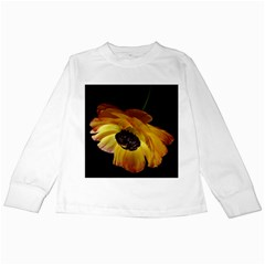 Ranunculus Yellow Orange Blossom Kids Long Sleeve T Shirts