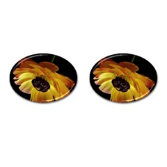 Ranunculus Yellow Orange Blossom Cufflinks (oval)