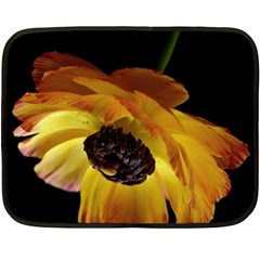 Ranunculus Yellow Orange Blossom Fleece Blanket (mini)