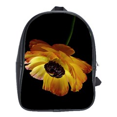 Ranunculus Yellow Orange Blossom School Bag (large)