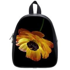 Ranunculus Yellow Orange Blossom School Bag (small)