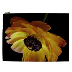 Ranunculus Yellow Orange Blossom Cosmetic Bag (xxl)