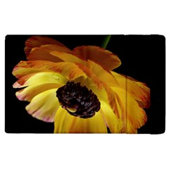 Ranunculus Yellow Orange Blossom Apple Ipad 3/4 Flip Case by Nexatart