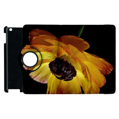 Ranunculus Yellow Orange Blossom Apple Ipad 3/4 Flip 360 Case by Nexatart