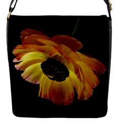 Ranunculus Yellow Orange Blossom Flap Messenger Bag (s)