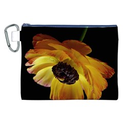 Ranunculus Yellow Orange Blossom Canvas Cosmetic Bag (xxl) by Nexatart