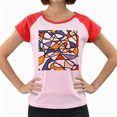 Abstract Background Abstract Women s Cap Sleeve T Shirt
