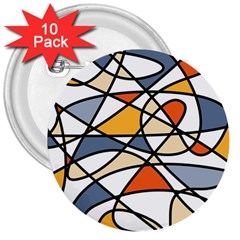 Abstract Background Abstract 3  Buttons (10 Pack)