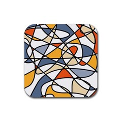 Abstract Background Abstract Rubber Square Coaster (4 Pack)