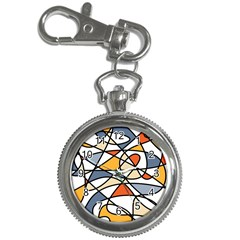 Abstract Background Abstract Key Chain Watches by Nexatart