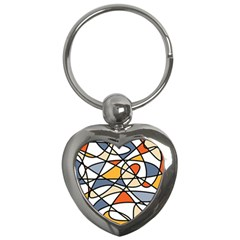 Abstract Background Abstract Key Chains (heart)  by Nexatart