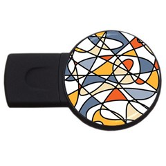 Abstract Background Abstract Usb Flash Drive Round (2 Gb)