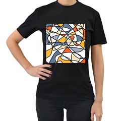 Abstract Background Abstract Women s T Shirt (black) (two Sided)