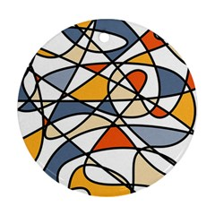 Abstract Background Abstract Round Ornament (two Sides)