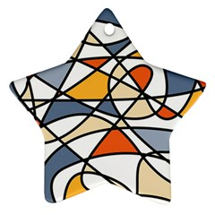 Abstract Background Abstract Star Ornament (two Sides)