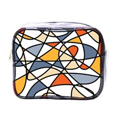 Abstract Background Abstract Mini Toiletries Bags by Nexatart
