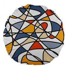 Abstract Background Abstract Large 18  Premium Flano Round Cushions