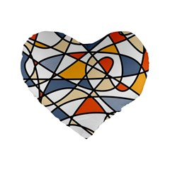 Abstract Background Abstract Standard 16  Premium Flano Heart Shape Cushions by Nexatart