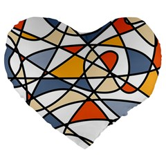 Abstract Background Abstract Large 19  Premium Flano Heart Shape Cushions