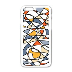 Abstract Background Abstract Apple Iphone 6/6s White Enamel Case
