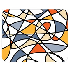 Abstract Background Abstract Double Sided Flano Blanket (medium)