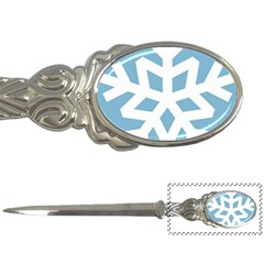 Snowflake Snow Flake White Winter Letter Openers