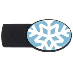 Snowflake Snow Flake White Winter Usb Flash Drive Oval (2 Gb) by Nexatart
