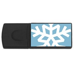 Snowflake Snow Flake White Winter Rectangular Usb Flash Drive