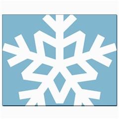 Snowflake Snow Flake White Winter Canvas 8  X 10  by Nexatart