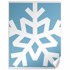 Snowflake Snow Flake White Winter Canvas 18  X 24