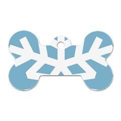 Snowflake Snow Flake White Winter Dog Tag Bone (two Sides) by Nexatart