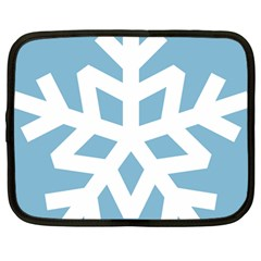 Snowflake Snow Flake White Winter Netbook Case (large)