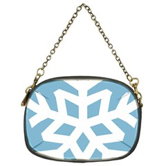 Snowflake Snow Flake White Winter Chain Purses (one Side)