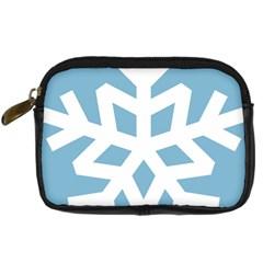 Snowflake Snow Flake White Winter Digital Camera Cases