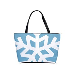 Snowflake Snow Flake White Winter Shoulder Handbags