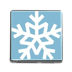 Snowflake Snow Flake White Winter Memory Card Reader (square)