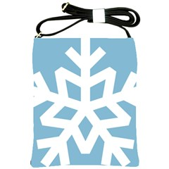 Snowflake Snow Flake White Winter Shoulder Sling Bags by Nexatart