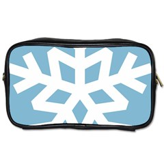 Snowflake Snow Flake White Winter Toiletries Bags 2 Side