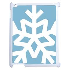Snowflake Snow Flake White Winter Apple Ipad 2 Case (white) by Nexatart