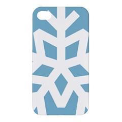 Snowflake Snow Flake White Winter Apple Iphone 4/4s Hardshell Case