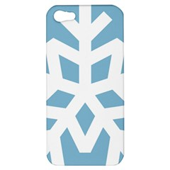 Snowflake Snow Flake White Winter Apple Iphone 5 Hardshell Case
