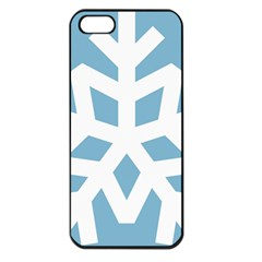 Snowflake Snow Flake White Winter Apple Iphone 5 Seamless Case (black) by Nexatart