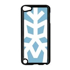 Snowflake Snow Flake White Winter Apple Ipod Touch 5 Case (black)