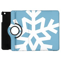 Snowflake Snow Flake White Winter Apple Ipad Mini Flip 360 Case