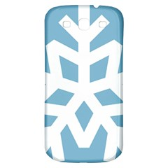 Snowflake Snow Flake White Winter Samsung Galaxy S3 S Iii Classic Hardshell Back Case by Nexatart