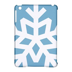 Snowflake Snow Flake White Winter Apple Ipad Mini Hardshell Case (compatible With Smart Cover)
